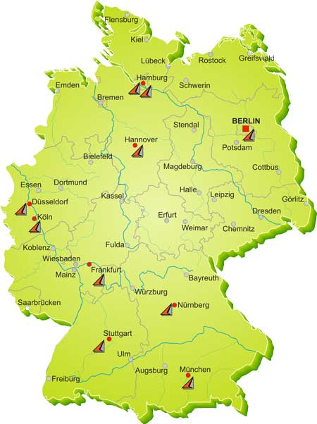 QCS German Offices Map
